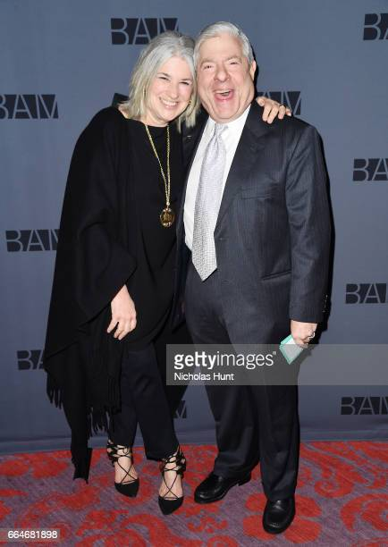 Jamie Snow and former Borough President of Brooklyn New York City Marty Markowitz attend the BAM Presents The Alan Gala at on April 4 2017 in the...