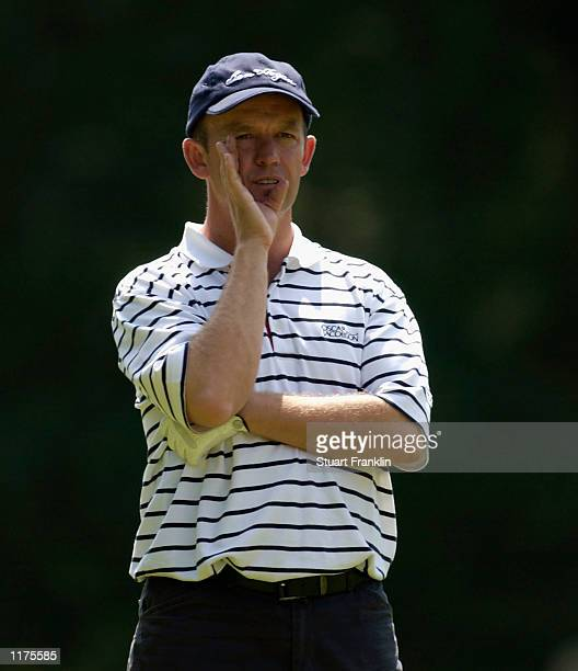Jamie Spence of England during the 2nd round of The TNT Open at the Hilversumsche Golf Club Hilversum The Netherlands on July 26 2002