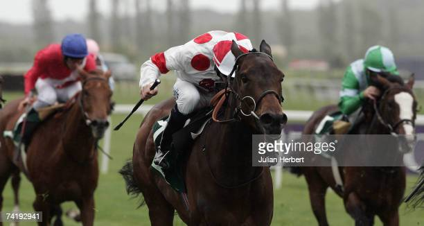 Jamie Spencer and Red Evie land The Juddmonte Lockinge Stakes Race run at Newbury Racecourse on May 19 in Newbury England
