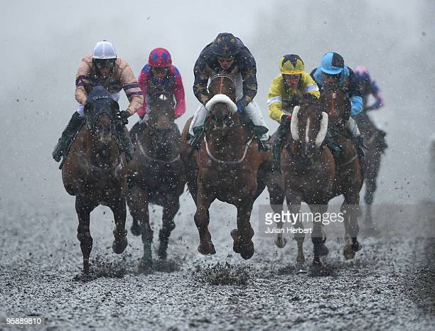 Jamie Spencer has Wicked Daze handily placed before landing The Marriott Play Stay Claiming Stakes Race run at Lingfield Park Racecourse on January...
