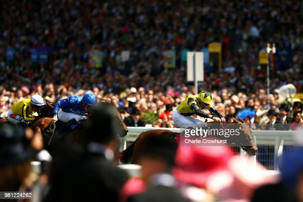 Jamie Spencer riding Agrotera win The Sandringham Stakes on day 4 of Royal Ascot at Ascot Racecourse on June 22 2018 in Ascot England