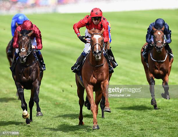 Jamie Spencer riding Balios wins The King Edward VII Stakes during Day 4 of Royal Ascot 2015 at Ascot Racecourse on June 19 2015 in Ascot England