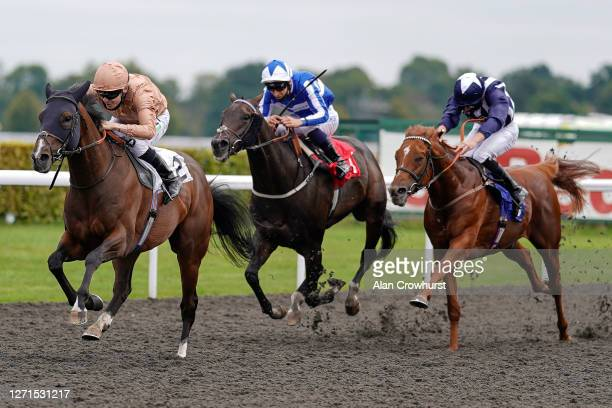 Jamie Spencer riding Omnivega win The Unibet Extra Place Offers Every Day Handicap at Kempton Park Racecourse on September 09, 2020 in Sunbury,...