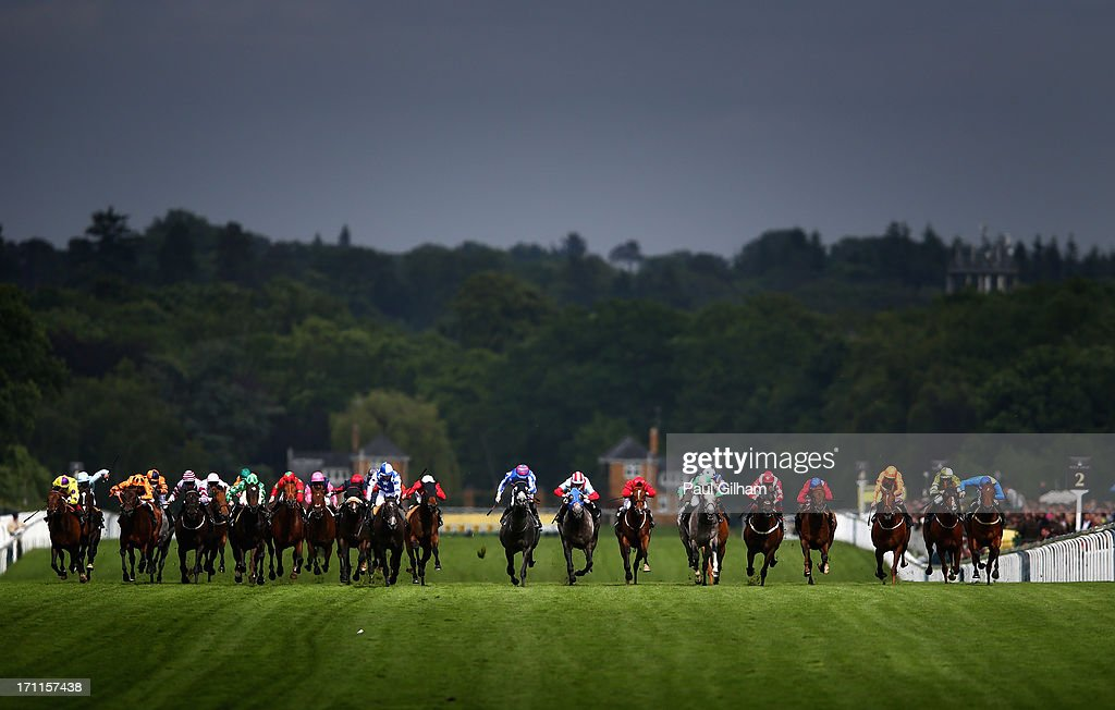 Jamie Spencer riding on York Glory (C) leads the field on his way to winning The Wokingham Stakes during day five of Royal Ascot at Ascot Racecourse on June 22, 2013 in Ascot, England.