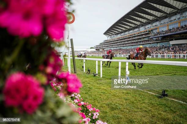 Jamie Spencer riding Pallasator win The Queen Alexandra Stakes on day 5 of Royal Ascot at Ascot Racecourse on June 23 2018 in Ascot England