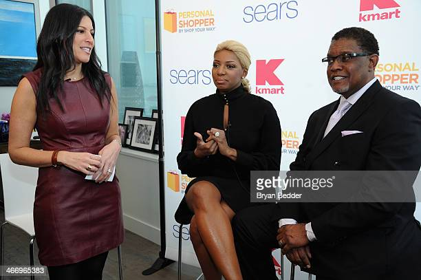Jamie Stein, NeNe Leakes and Gregg Leakes attend the Shop Your Way #RealPersonal event at Ink48 on February 5, 2014 in New York City.