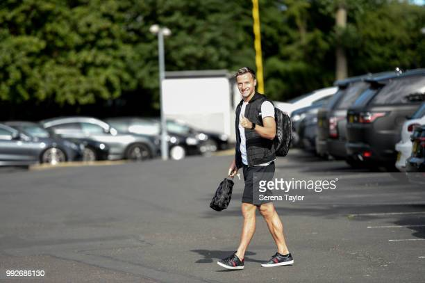 Jamie Sterry arrives back for the first team training session at The Newcastle United Training Centre on July 6 in Newcastle upon Tyne England