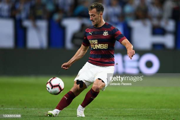 Jamie Sterry of Newcastle in action during the preseason friendly match between FC Porto and Newcastle at Estádio do Drago on July 28 2018 in Porto...
