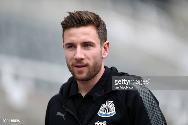 Jamie Sterry of Newcastle United arrives at the stadium prior to the Premier League match between Newcastle United and Swansea City at St James Park...
