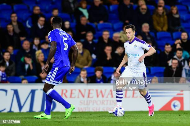 Jamie Sterry of Newcastle United runs with the ball during the Sky Bet Championship match between Cardiff City and Newcastle United at the Cardiff...