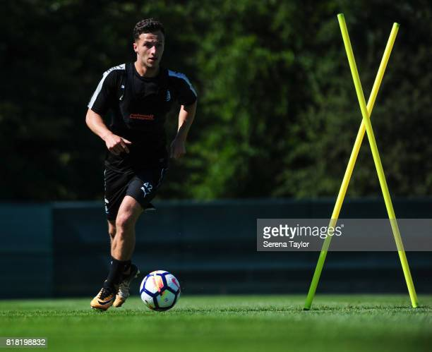 Jamie Sterry runs with the ball during the Newcastle United Training session at Carton House on July 18 in Maynooth Ireland