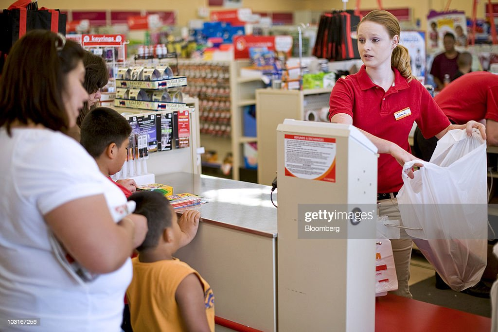 Jamie Stonemetz, a new employee at a Family Dollar store