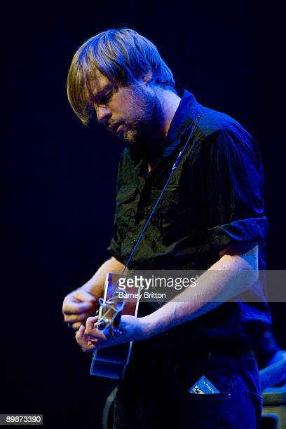 Jamie Sutherland of Broken Records performs on stage at the Royal Festival Hall on August 10 2009 in London England