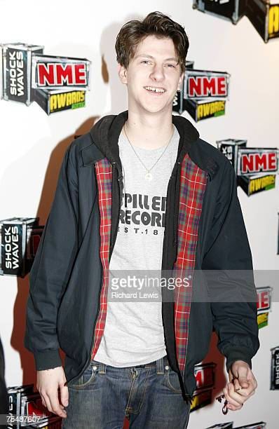 Jamie T arrives at the Shockwaves NME Awards 2007 at the Hammersmith Palais in London United Kingdom