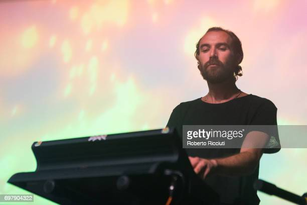 Jamie Terry of Australian band Pond performs on stage at The Art School on June 19, 2017 in Glasgow, Scotland.