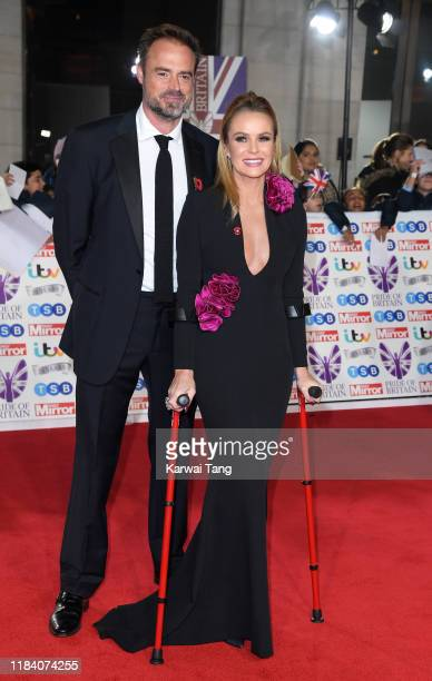 Jamie Theakston and Amanda Holden attend the Pride Of Britain Awards 2019 at The Grosvenor House Hotel on October 28 2019 in London England