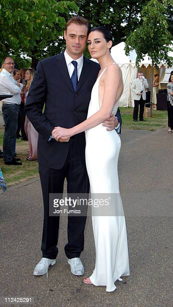 Jamie Theakston and Erin O'Connor during Serpentine Gallery Summer Party June 16 2004 at Serpentine Gallery in London Great Britain