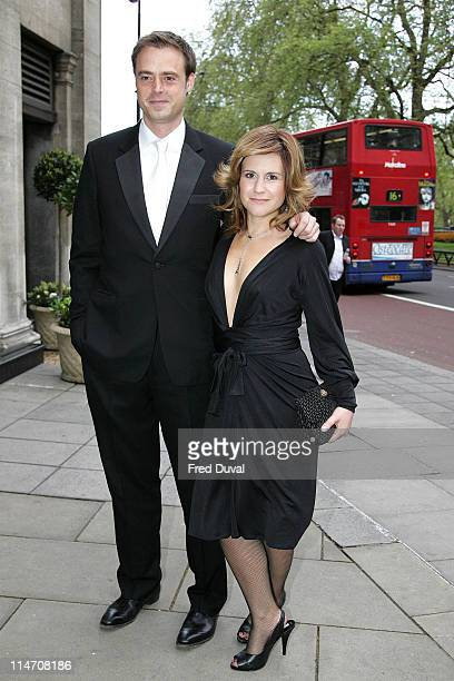 Jamie Theakston and Harriet Scott during 2006 Sony Radio Academy Awards Outside Arrivals at Grosvenor House in London Great Britain United Kingdom