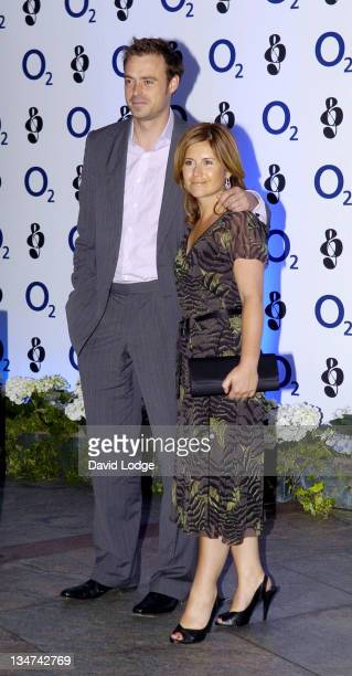 Jamie Theakston and Harriet Scott during O² Silver Clef Lunch Outside Arrivals at London Hilton in London Great Britain