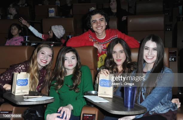 Jamie Timmons Samantha Gangal Hunter Payton Pilot PaisleyRose and Britten Healey attend Hunter Payton And The Shoe Crew Holiday Charity Fundraiser...