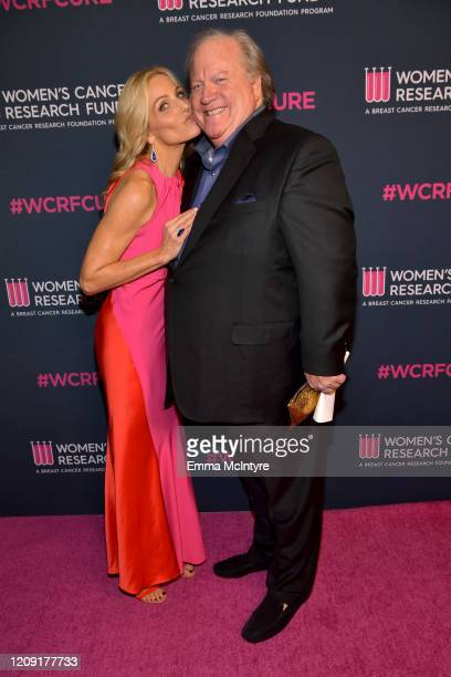 Jamie Tisch and John Carrabino attend WCRF's An Unforgettable Evening at Beverly Wilshire A Four Seasons Hotel on February 27 2020 in Beverly Hills...