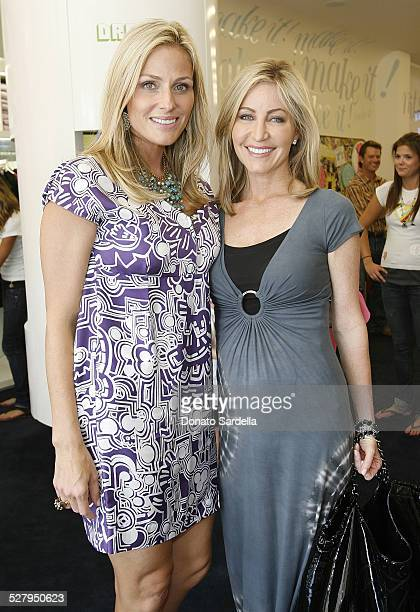 Jamie Tisch and Laurie Feltheimer attend the Children's Action Network party at Fashionology on September 16 2009 in Los Angeles California