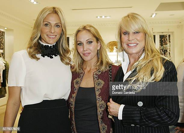 LR Jamie Tisch Brooke Davenport and Suzanne Saperstein attend The World in Vogue Oscar de la Renta Book Signing Party with Hamish Bowles on December...