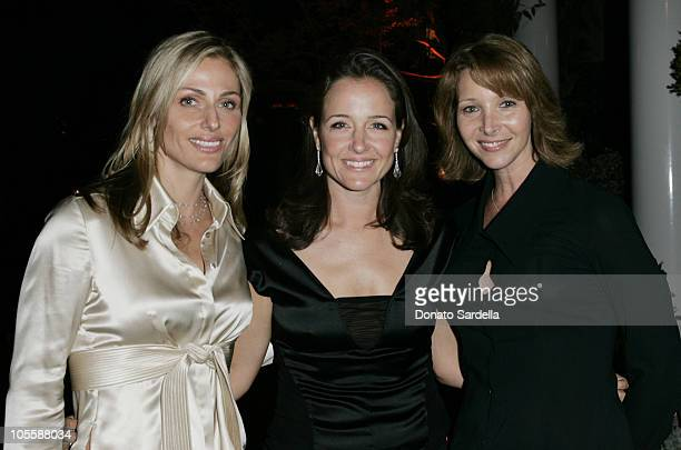Jamie Tisch Elizabeth Wiatt and Lisa Kudrow during Jonathan Tisch The Power Of We Book Party at Private Residence in Beverly Hills California United...