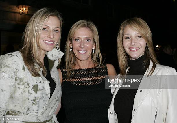 Jamie Tisch Janet Crown Peterson and Lisa Kudrow during Stars Make Their Voices Heard at a Silent Auction for Lollipop Theater Network at Private...