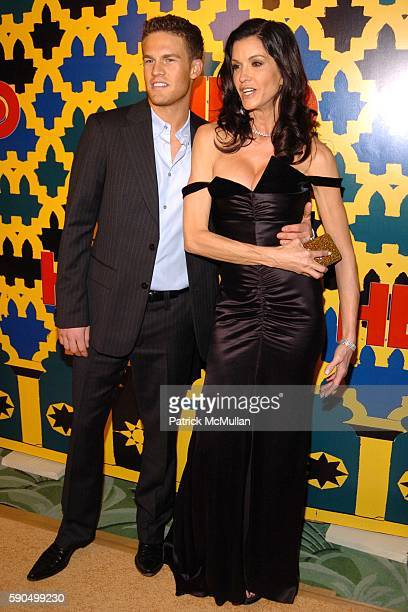 Jamie Tweeden and Janice Dickenson attend HBO Golden Globe Awards AfterParty at Griff's Restaurant at the Beverly Hilton Hotel on January 16 2005 in...