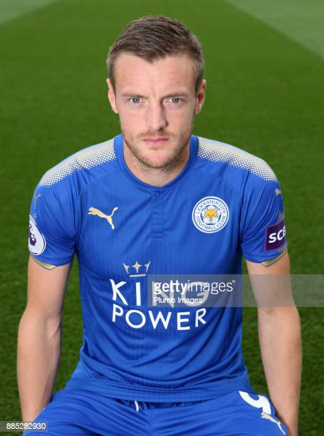 Jamie Vardy during the Leicester City Official Team Group on November 1 2017 in Leicester United Kingdom