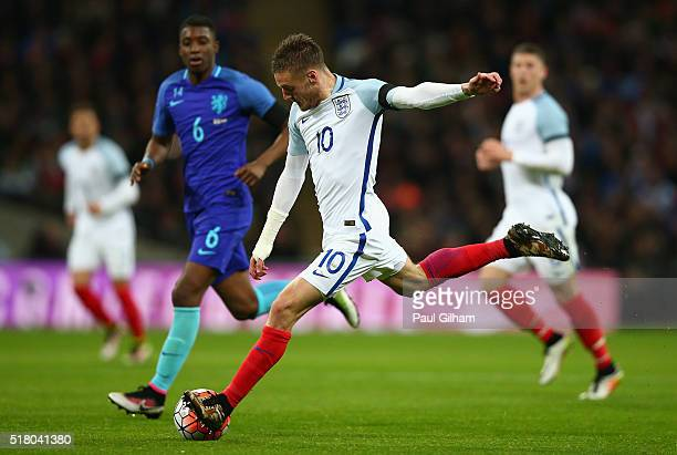 Jamie Vardy of England during the International Friendly match between England and Netherlands at Wembley Stadium on March 29 2016 in London England