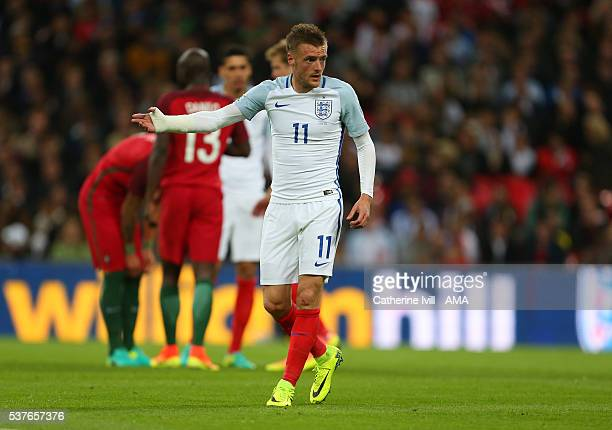 Jamie Vardy of England during the International Friendly match between England and Portugal at Wembley Stadium on June 2 2016 in London England