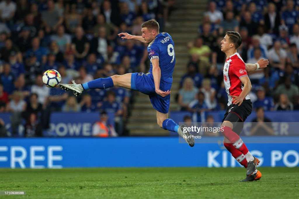 Jamie Vardy Of Leicester City Attempts A Shot At Goal During The News Photo Getty Images