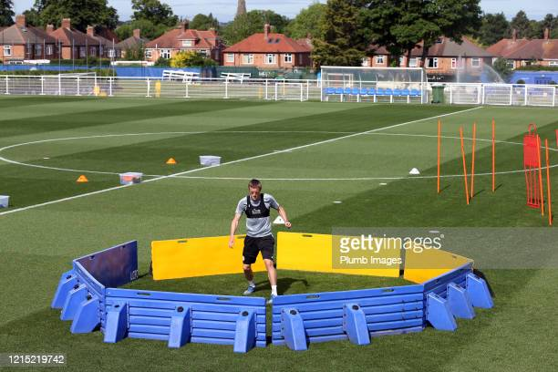 Jamie Vardy of Leicester City during the Leicester City training session at Belvoir Drive Training Complex on May 26th, 2020 in Leicester, United...