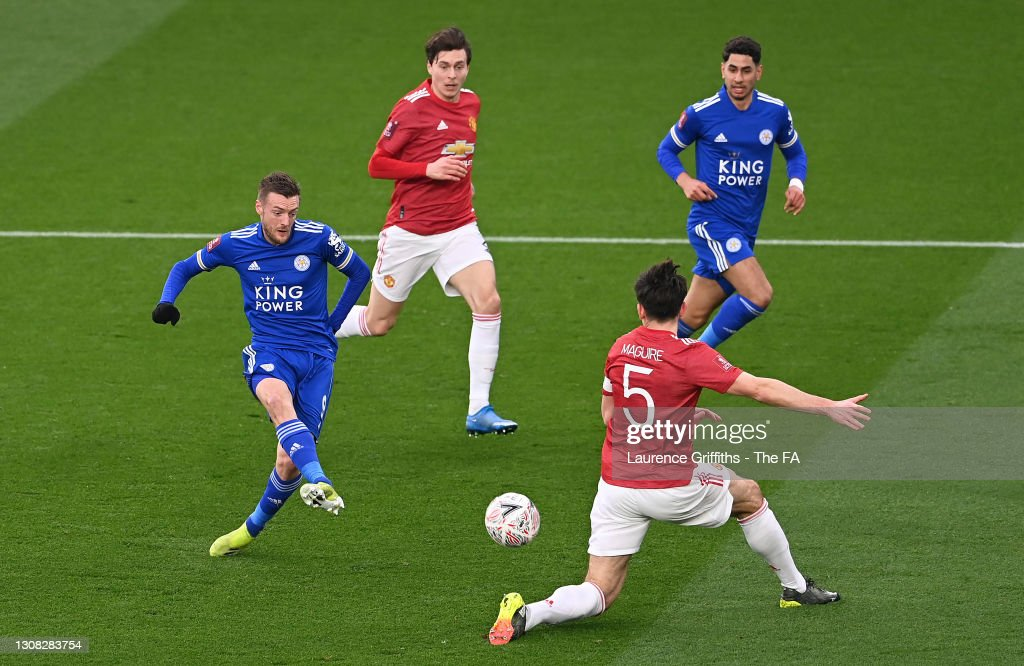 Leicester City v Manchester United: Emirates FA Cup Quarter Final : Nieuwsfoto's