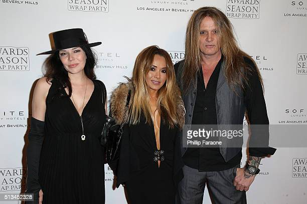 Jamie Wachtel Suzanne Le and Sebastian Bach attend the 2016 Award Season Wrap Party at Sofitel Los Angeles At Beverly Hills on March 2 2016 in Los...