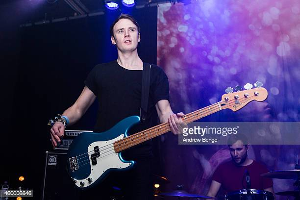 Jamie Ward of Maybeshewill performs on stage at Belgrave Music Hall on December 5 2014 in Leeds United Kingdom