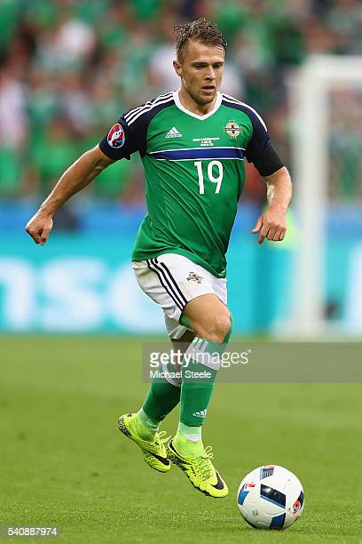 Jamie Ward of Northern Ireland during the UEFA EURO 2016 Group C match between Ukraine and Northern Ireland at Stade des Lumieres on June 16 2016 in...