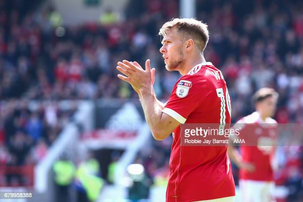 Jamie Ward of Nottingham Forest during the Sky Bet Championship match between Nottingham Forest and Ipswich Town at City Ground on May 7 2017 in...