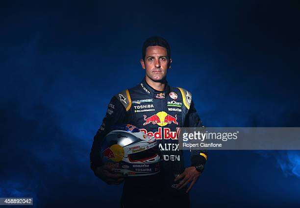 Jamie Whincup driver of the Red Bull Racing Australia Holden poses during a V8 Supercar portrait shoot at Phillip Island Grand Prix Circuit on...