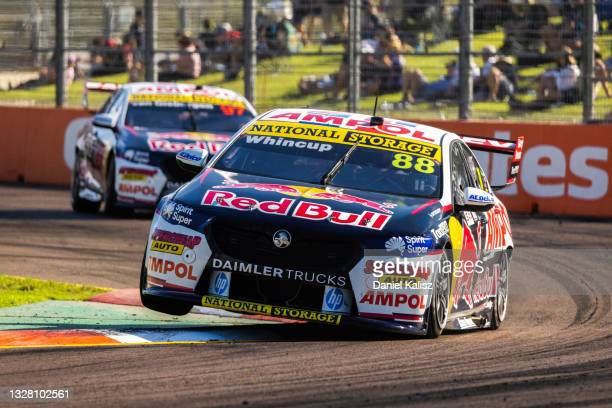 Jamie Whincup drives the Red Bull Ampol Racing Holden Commodore ZB during race 2 of the Townsville 500 which is part of the 2021 Supercars...