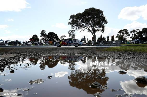Jamie Whincup drives the Red Bull Holden Racing Team Holden Commodore ZB during the Sandown 500 at Sandown International Motor Raceway on September...