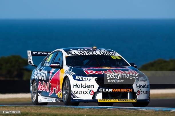 Jamie Whincup drives the Red Bull Holden Racing Team Holden Commodore ZB during the Phillip Island 500 as part of the Supercars Championship season...