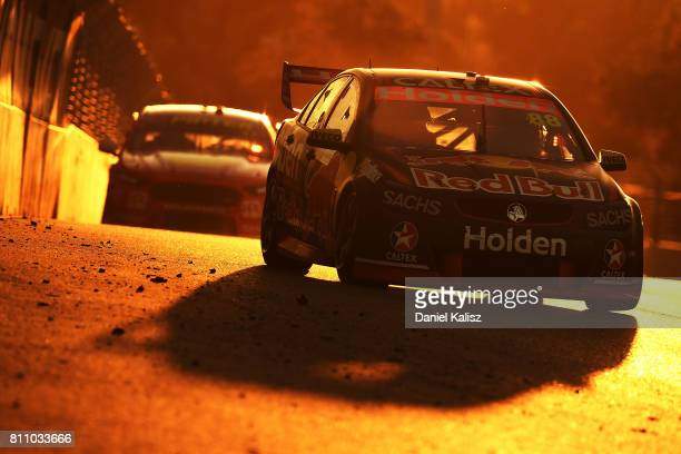 Jamie Whincup drives the Red Bull Holden Racing Team Holden Commodore VF during race 14 for the Townsville 400 which is part of the Supercars...