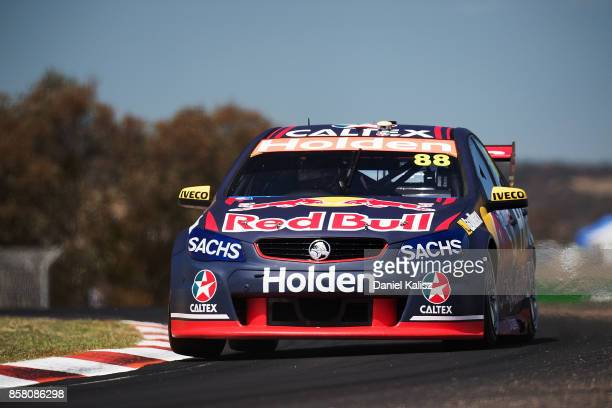 Jamie Whincup drives the Red Bull Holden Racing Team Holden Commodore VF during practice ahead of this weekend's Bathurst 1000 which is part of the...