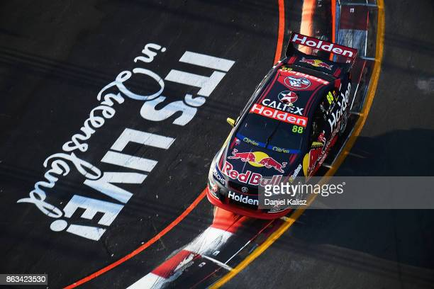 Jamie Whincup drives the Red Bull Holden Racing Team Holden Commodore VF during practice 3 for the Gold Coast 600 which is part of the Supercars...