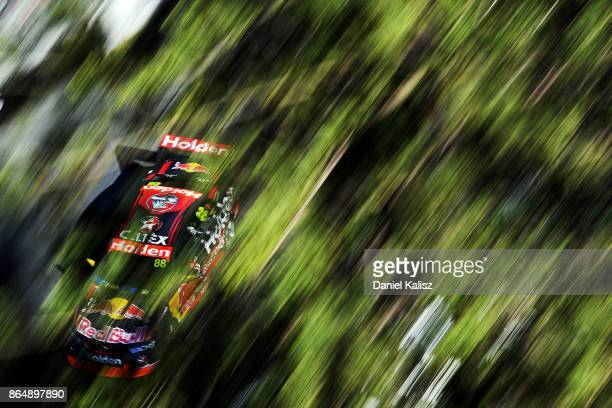 Jamie Whincup drives the Red Bull Holden Racing Team Holden Commodore VF during race 22 for the Gold Coast 600 which is part of the Supercars...