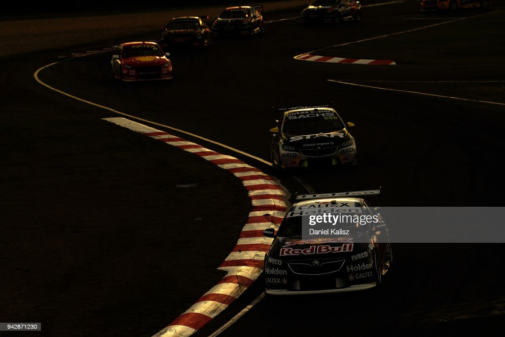 Jamie Whincup drives the #1 Red Bull Holden Racing Team Holden Commodore ZB during Supercars Tasmania SuperSprint on April 7, 2018 in Hobart, Australia.