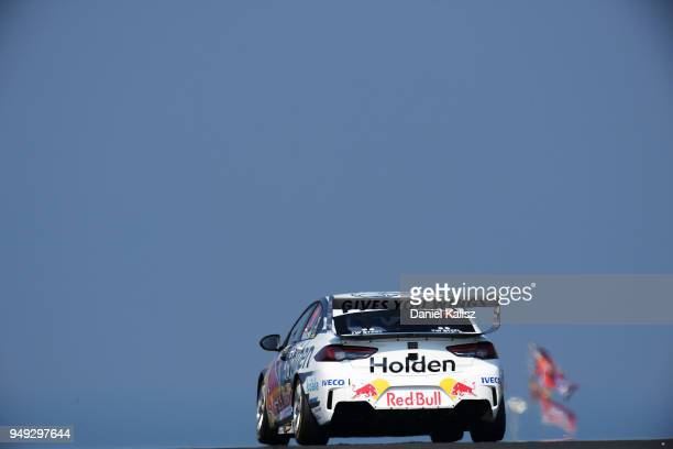Jamie Whincup drives the Red Bull Holden Racing Team Holden Commodore ZB during the Supercars Phillip Island 500 at Phillip Island Grand Prix Circuit...